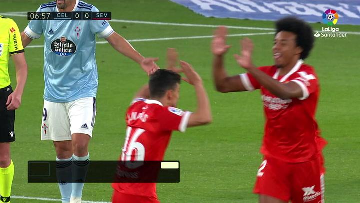Gol de Koundé (0-1) en el Celta 3-4 Sevilla