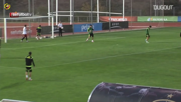 Diego Costa's great goal in training with the Spanish national team
