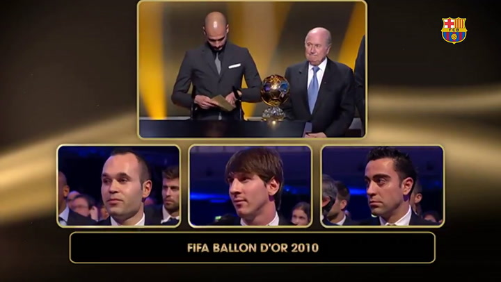 Messi fue ganador del Balón de Oro en el 2010