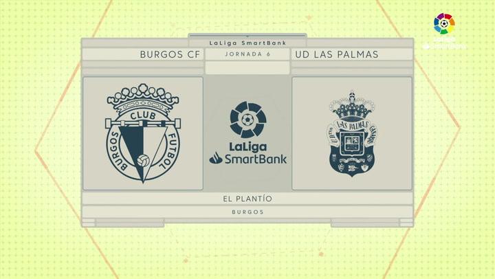 LaLiga SmartBank (J6): Resumen y goles Burgos 0-0 Las Palmas