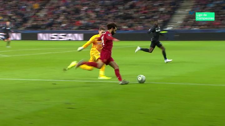 Champions League: Red Bull Salzburg - Liverpool. Gol de Salah (0-1)