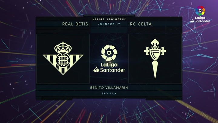 LaLiga Santander (J19): Resumen y goles del Betis 2-1 Celta