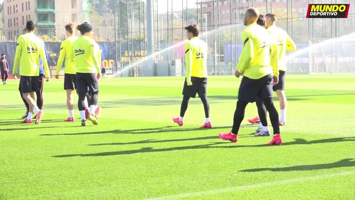 Primer entrenamiento de Martin Braithwaite con el FC Barcelona