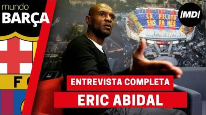 Entrevista con Eric Abidal, secretario técnico del Barça