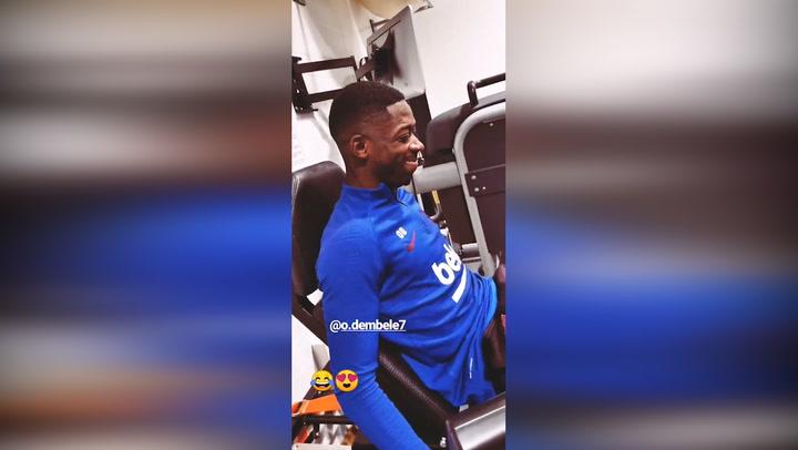 Dembélé ya se ejercita en el gimnasio de la Ciutat Esportiva
