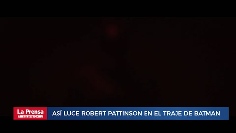 Así luce Robert Pattinson en el traje de Batman