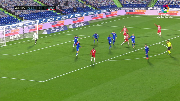 El VAR anula este gol al Getafe en la segunda parte