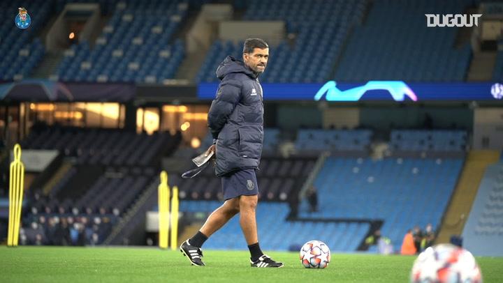 El Oporto se entrena en Manchester antes de enfrentarse al City