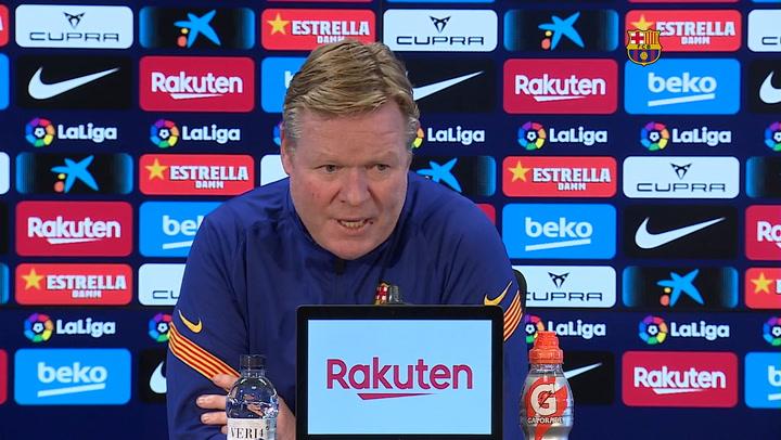 """Koeman """"No voy a mentir pero a un jugador del Barça hay que exigirle"""""""