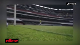 Un emocionado Matías Garrido emula el golazo de Maradona en el Azteca tras el entrenamiento de Olimpia