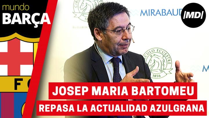 Bartomeu analiza la actualidad azulgrana en un coloquio del Foro Barcelona Capital