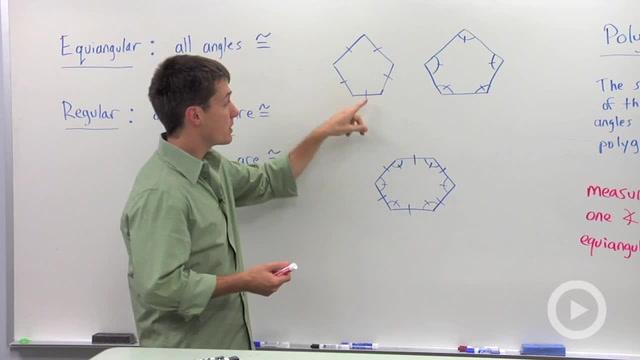 Equiangular Polygon Sums