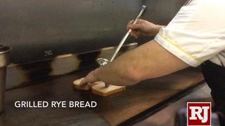 Making the Reuben sandwich at Served in Las Vegas