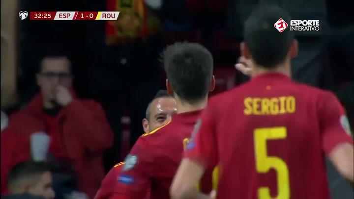 Gol de Gerard Moreno en el España - Rumanía (2-0)