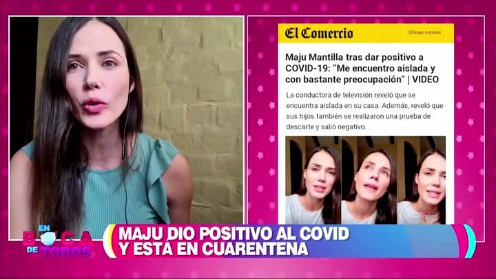 Maju Mantilla revela que sus hijos y esposo dieron negativo al covid-19