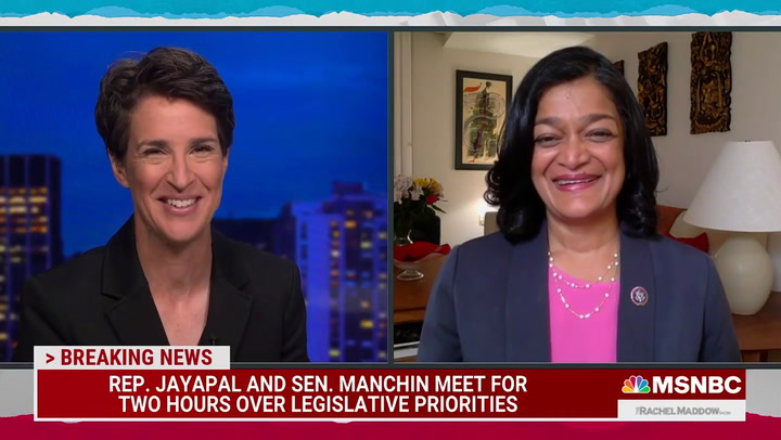 Jayapal After Meeting with Sanders, Manchin: We're Going to Get Both Bills Done