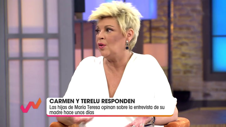Terelu Campos y Carmen Borrego dan la cara para responder a Jorge Javier Vázquez