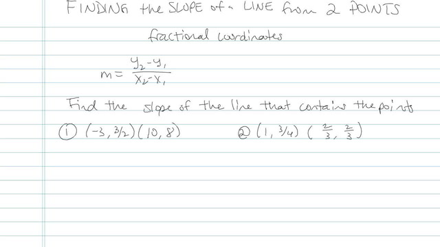 Finding the Slope of a Line from 2 Points - Problem 7