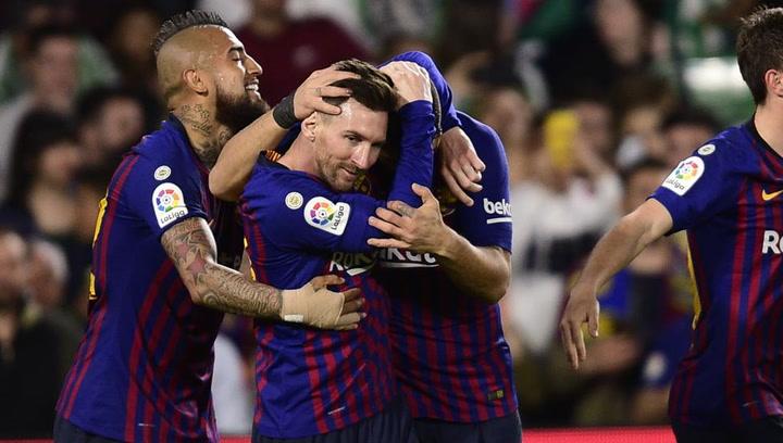 LaLiga: Resumen y Goles del Partido Real Betis (1) - (4) Barça del 17/03/2019 | Vídeo