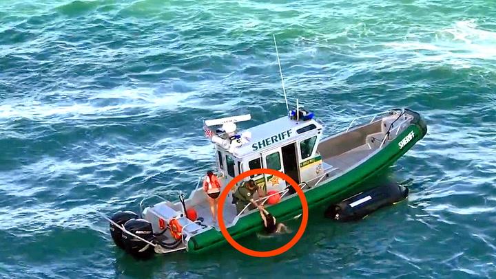 Med cruiseskipet i hælene: Jentene reddes i siste liten
