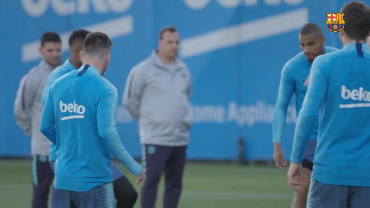 El último entrenamiento del Barça antes de enfrentarse al Betis