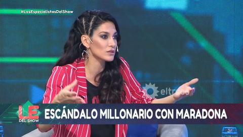 Silvina Escudero mandó al frente a Maradona