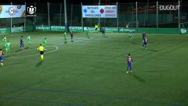 Barcelona beat Cornellà in extra time