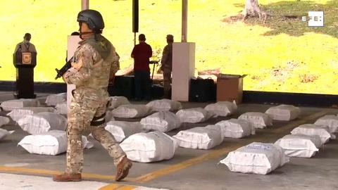 Autoridades panameñas incautan más de una tonelada de droga