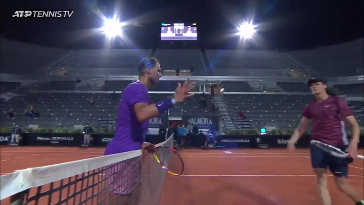 Rafa Nadal derrota a Sinner en Roma