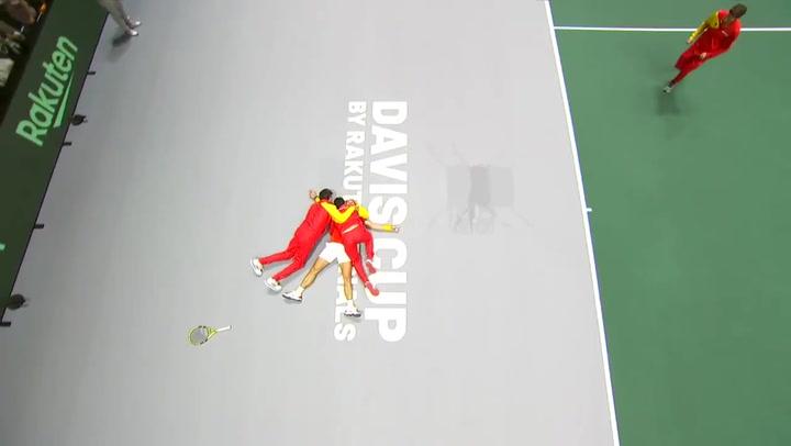Así fue el último punto de Nadal ante Shapovalov que permitió a España ganar su sexta Copa Davis