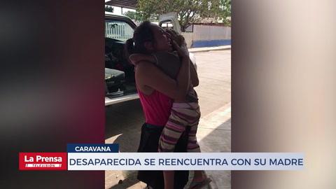 Niña hondureña desaparecida en la caravana se reencuentra con su madre