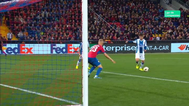 Europa League: CSKA-Espanyol. Gol de Campuzano (0-2)