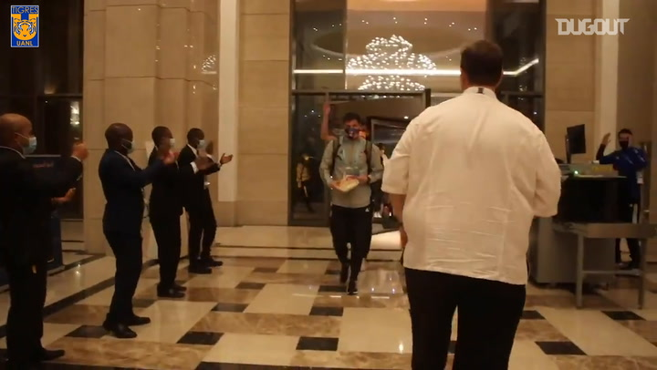 Tigres's victorious return to their hotel after reaching FIFA Club World Cup semi-finals