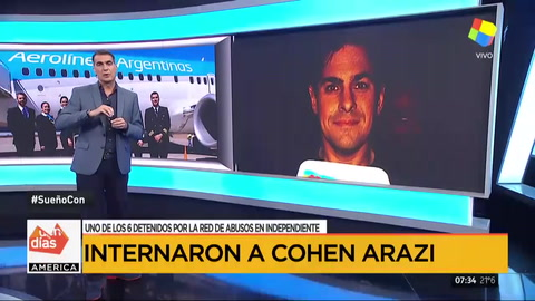 Leonardo Cohen Arazi tuvo una arritmia y fue internado