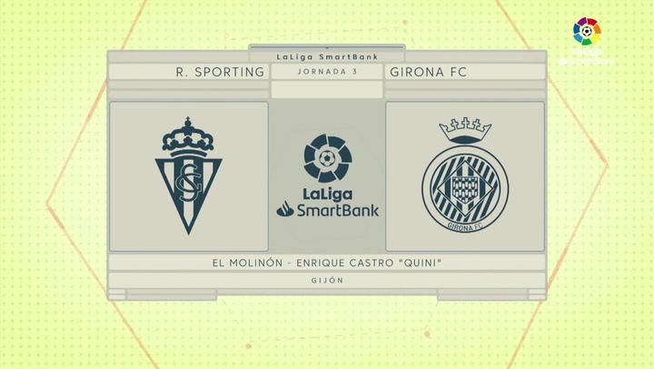 LaLiga SmartBank (J. 3): Sporting 2-0 Girona