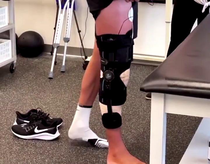 Del Potro sigue la rehabilitación tras su operación de rodilla
