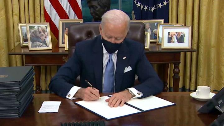 Joe Biden firma decretos incluyendo orden de retorno de EE.UU al acuerdo del clima de París y OMS