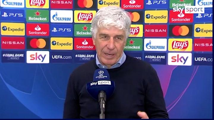 Gasperini habló sobre el árbitro del Atalanta-Real Madrid