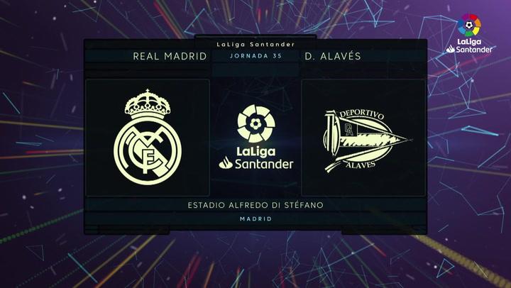 LaLiga (J35): Resumen y goles del Real Madrid 2-0 Alavés