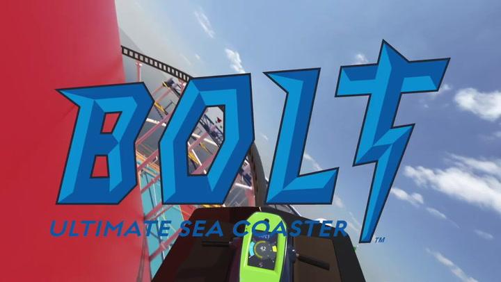 Bolt - Top Deck Roller-Coaster at sea on Carnival Mardi Gras