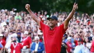 La espectacular invasión de campo para ver ganar a Tiger Woods cinco años después