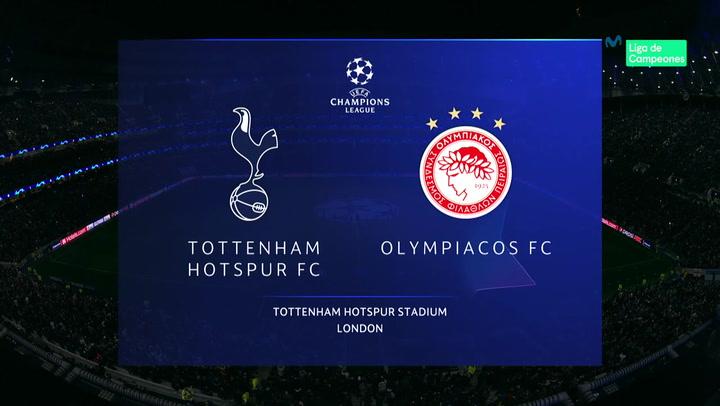 Champions League: Resumen y Goles del Tottenham - Olympiacos
