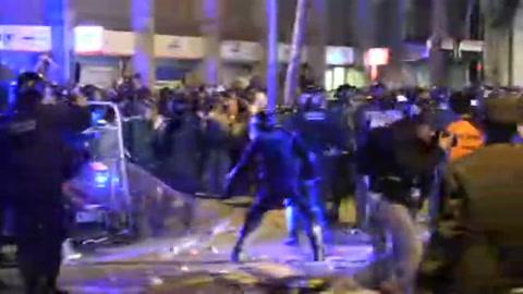 Segundo día de tensión en Cataluña tras condena a líderes separatistas