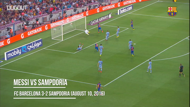 Best Assists: Leo Messi Vs Sampdoria 2016