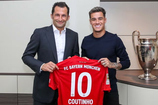 Oficial: Bayern Múnich anuncia el fichaje del brasileño Coutinho