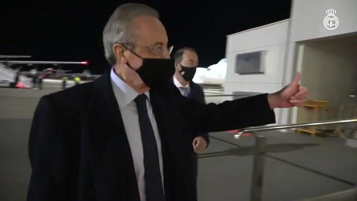 Florentino encabeza la expedición del Real Madrid