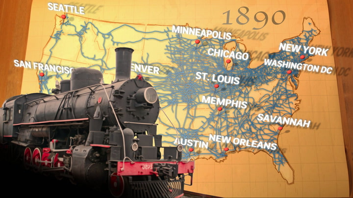 Map Of Railroads Spreading Across The US Business Insider - Video of car driving across us map animated