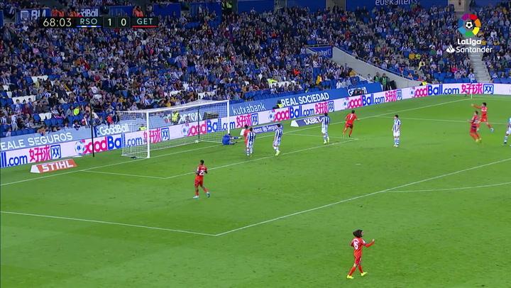 Gol de Mata (1-1) en el Real Sociedad 1-2 Getafe