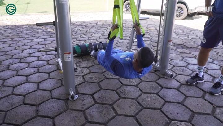 Goiás' last training session before Coritiba clash