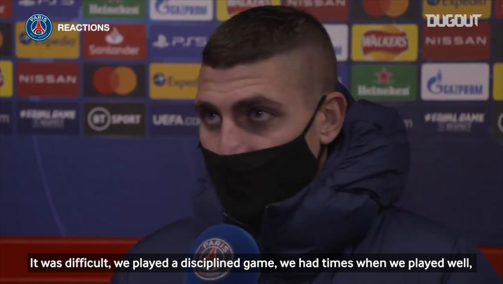 Marco Verratti: 'It was a deserved victory, we produced a big performance'